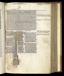 A Decorated Initial, in Job and the Sapiential Books, With Explanatory Notes
